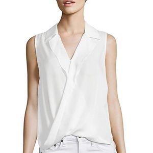 L'Agence V Neck Freja Silk Blouse size M